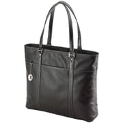 "MOBILE EDGE METL01 15""-17.3"" Notebook Ultra Tote (Black leather)"
