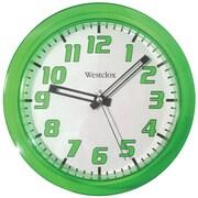 """Westclox 32004G 7.75"""" Translucent Wall Clock (Green)"""