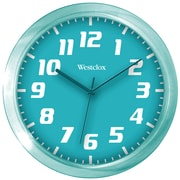 "Westclox 32004T 7.75"" Translucent Wall Clock (Teal)"