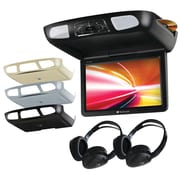 "Planet Audio P10.1ES 10.1"" Ceiling-Mount TFT DVD Player with Built-in IR & FM Transmitters & 3 Color Housings"