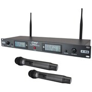 Pyle Pdwm3800 Rack-mount Dual 2.4g Wireless Handheld Microphone System