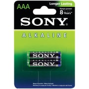 SONY AM4LB2D Alkaline Batteries (AAA; 2 pk)