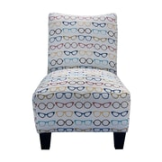 GraftonHome Designer Eyeglass Armless Accent Chair