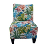 GraftonHome Floral Reef Armless Accent Chair