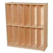 Wood Designs 2 Tier 6 Wide Coat Locker
