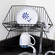 Ikee Design 2 Piece Metal Wire Corner Organizer Basket Set