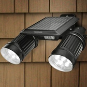 Touch of ECO Twinspot Pro Solar 14-Light LED Outdoor Spotlight; Black