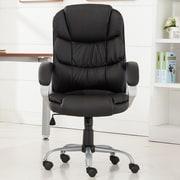 Belleze Mid-Back Desk Chair; Black
