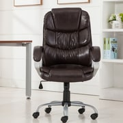 Belleze Mid-Back Desk Chair; Mocha