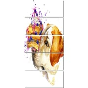 DesignArt 'Cute Labrador Dog Watercolor' 5 Piece Graphic Art on Canvas Set