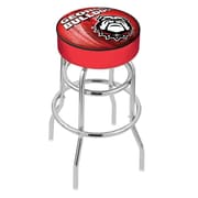 Holland Bar Stool NCAA 25 inch Swivel Bar Stool; Georgia, inch Bulldog inch