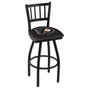Holland Bar Stool NCAA 44'' Swivel Bar Stool; Philadelphia Flyers- Black