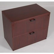 Furniture Design Group Sinclair 2-Drawer Lateral File Cabinet; Mahogany