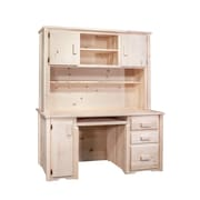 Montana Woodworks  Homestead Computer Desk w/ Hutch; Ready To Finish