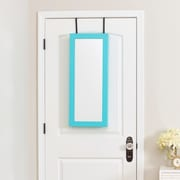 InnerSpace Luxury Products Space Saver Over the Door Jewelry Armoire w/ Mirror; Turquoise