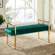 Meridian Furniture USA Olivia Upholstered Bedroom Bench; Green