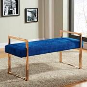 Meridian Furniture USA Harper Upholstered Bedroom Bench; Blue