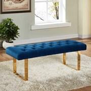Meridian Furniture USA Ethan Upholstered Bedroom Bench; Navy