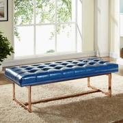 Meridian Furniture USA Gavin Upholstered Bedroom Bench; Navy