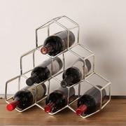 Kate and Laurel Merl 6 Bottle Tabletop Wine Bottle Rack; Silver