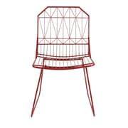 Kate and Laurel Thrapston Geometric Accent Chair; Red