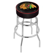 Holland Bar Stool NCAA 25'' Swivel Bar Stool; Chicago Blackhawks- Black