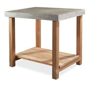 SeasonalLiving Perpetual Mykonos Gathering Side Table; Slate Gray