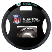 NeoPlex NFL Steering Wheel Cover (Set of 3); Miami Dolphins