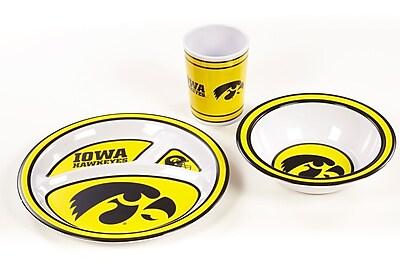 NeoPlex NCAA 3 Piece Melamine Dish Set; Iowa Hawkeyes WYF078279653674
