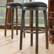 Leick 26'' Swivel Bar Stool (Set of 2); Graystone / Black