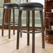 Leick 30'' Swivel Bar Stool (Set of 2); Graystone / Black