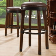 Leick 30'' Swivel Bar Stool (Set of 2); Sienna / Sable