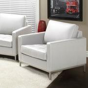 Lind Furniture Regency Top Grain Leather Arm Chair; Polar White