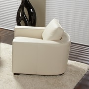 Lind Furniture Marquis Top Grain Leather Arm Chair; Linen