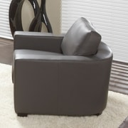 Lind Furniture Marquis Top Grain Leather Arm Chair; Grey