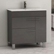 Eviva Cup  31.5'' Single Bathroom Vanity Set; Gray