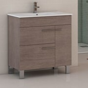 Eviva Cup  31.5'' Single Bathroom Vanity Set; Medium Oak