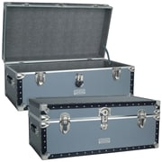 Seward Trunk Classic Silver Trunk; 31'' x 17'' x 15.25''