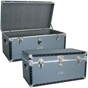 Seward Trunk Classic Silver Trunk w/ FullTray; 17'' H x 31'' W x 15.25''