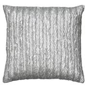 Wildon Home   Dai Throw Pillow; Silver
