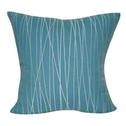 Loom and Mill Stripe Decorative Throw Pillow; Blue