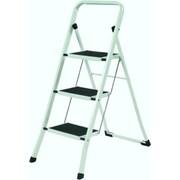 YBM Home 3-Step Steel Folding Step Stool w/ 200 lb. Load Capacity