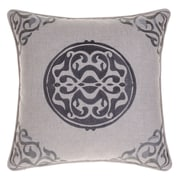 14 Karat Home Inc. Embroidered Medallion Throw Pillow; Iron/Steel