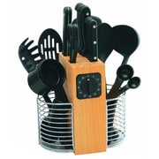 Rogers by Stanley Roberts 25 Piece Cutlery and Gadget Pro Set w/ Wood Block in Black