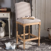 Wholesale Interiors Baxton Studio 30.86'' Bar Stool w/ Cushion