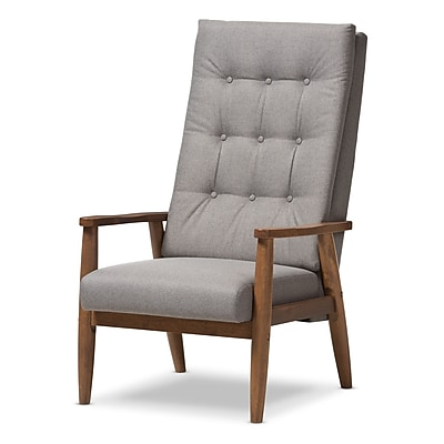 Wholesale Interiors Baxton Studio Rio Upholstered Lounge Chair; Gray