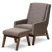 Wholesale Interiors Baxton Studio Gerardo Upholstered Lounge Chair and Ottoman