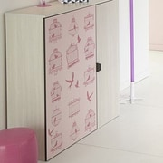 Parisot Gravity 1 Door Cabinet; Pink