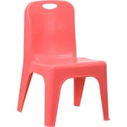 Offex 11'' Plastic Classroom Chair; Red