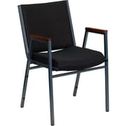 Offex Hercules Series Stacking Chair; Black